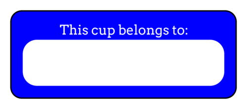 """This Cup Belongs To"" Solo Cup Label"