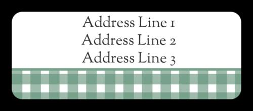 Green Plaid Flannel Address Label