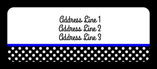 Polka Dot Address Label