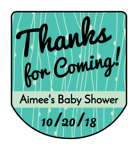 Vine Baby Shower Hand Sanitizer Label