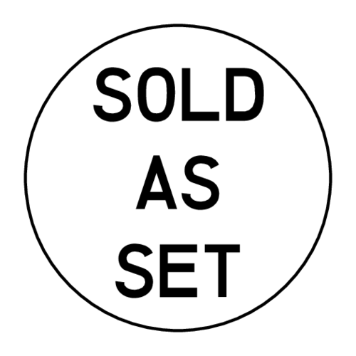 """Sold as Set"" Packaging Label"