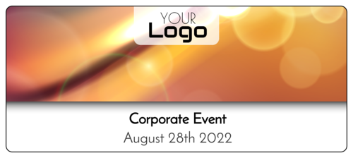 Bokeh Corporate Event Water Bottle Label
