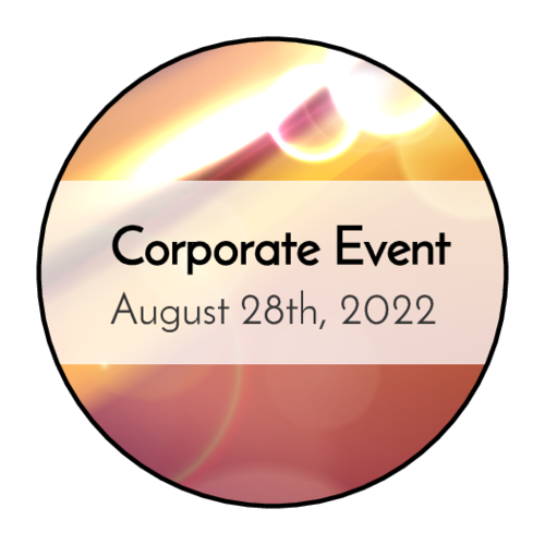 Bokeh Corporate Event Sticker