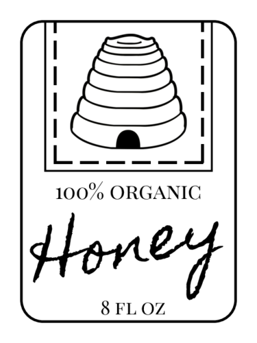 Beehive Honey Bottle Label