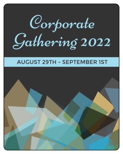 Geometric Corporate Gathering Wine Bottle Label