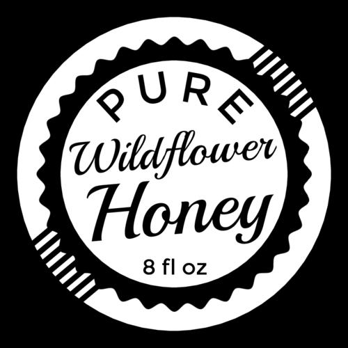 Vintage Stamp Honey Bottle Label