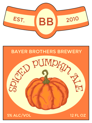 Spiced Pumpkin Ale Beer Bottle Label