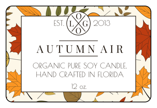 Fall Leaves Candle Jar Label