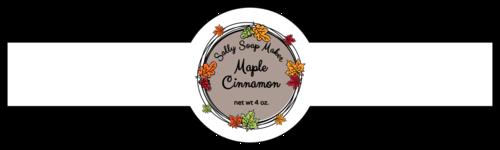 Fall Leaf Wreath Wrap-Around Soap Label