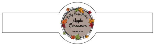 Fall Leaf Wreath Wrap-Around Soap Label