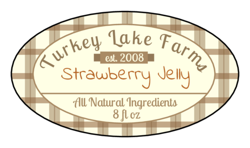 Plaid/Flannel Oval Jar Label