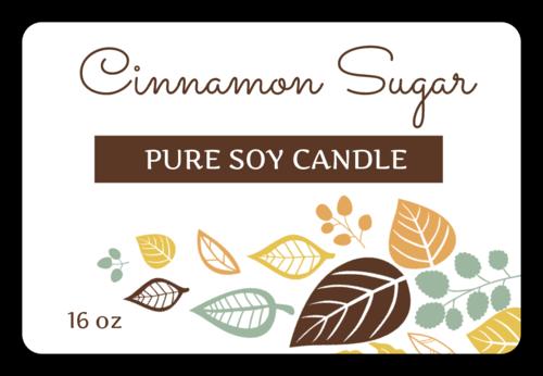 Autumn Candle Jar Label