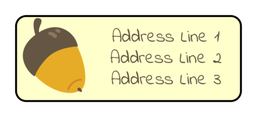 Autumn Acorn Address Label