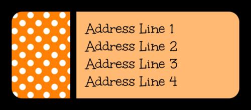 Polka Dot Halloween Address Label