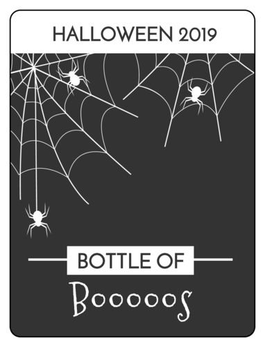 Spider Web Beer Bottle Label