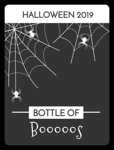 """""""Bottle Of Boos"""" Beer Bottle Label"""