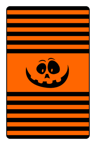 Jack-o'-Lantern Chocolate Mini Candy Bar Label