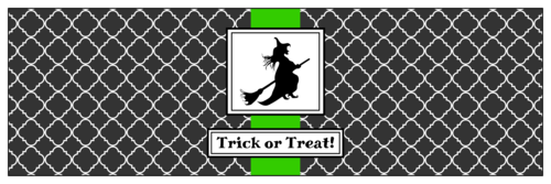 Halloween Witch Water Bottle Label
