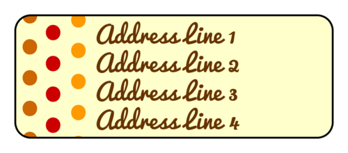 Fall Color Polka Dot Address Label
