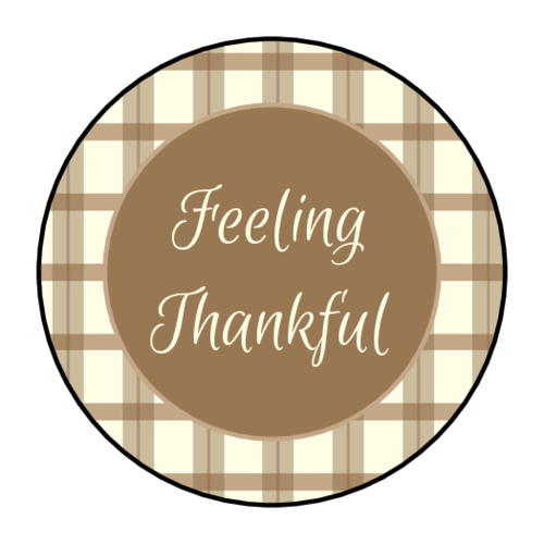 """Feeling Thankful"" Sticker"