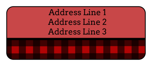 Red Plaid Address Label