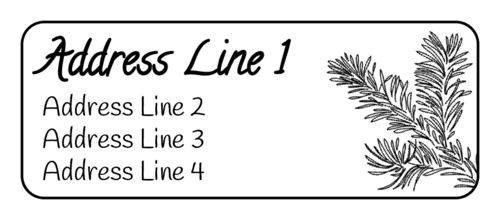 Pine Needle Address Label