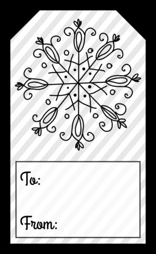 Snowflake Holidy Gift Tag
