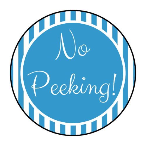 """No Peeking"" Holiday Present Sticker"