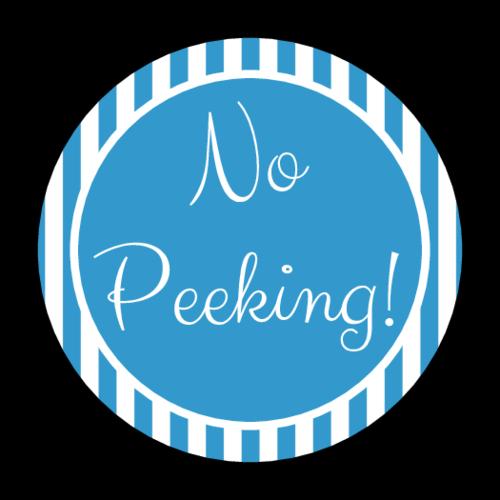 """No Peeking"" Holiday Present Sticker"