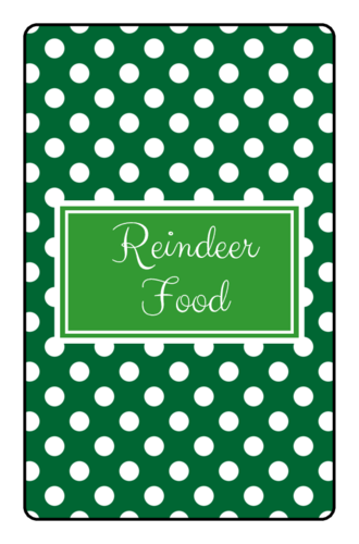 Reindeer Food Chocolate Mini Candy Bar Label