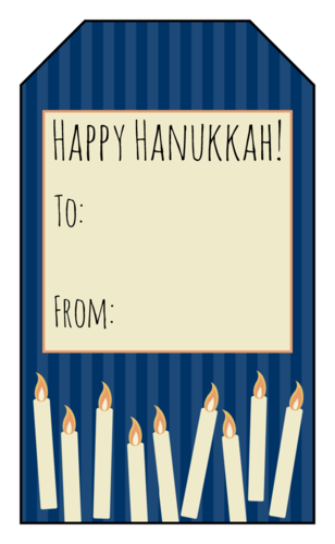 Hanukkah Candles Gift Tag