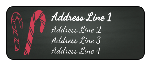 Candy Cane Address Label