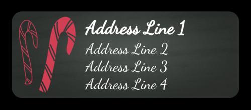 Candy Cane Address Label