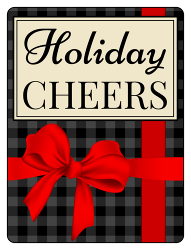 """Holiday Cheers"" Beer Bottle Label"