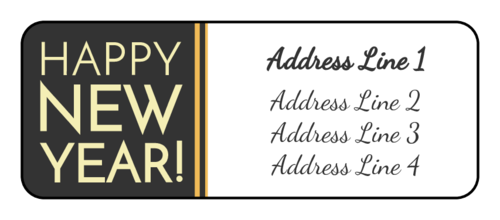 """Happy New Year!"" Address Label"