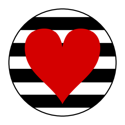 Striped Heart Sticker