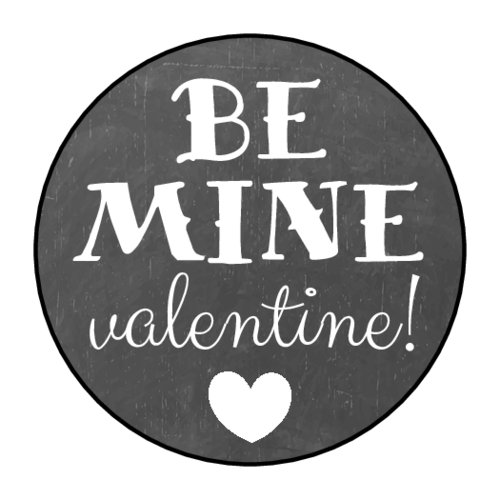 """Be Mine Valentine"" Chalkboard Label"