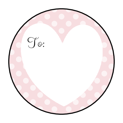 Polka Dot Heart Gift Tag