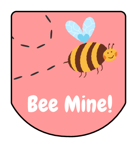 """Bee Mine!"" Valentine's Day Hand Sanitizer Label"