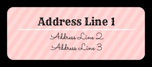 Striped Address Label