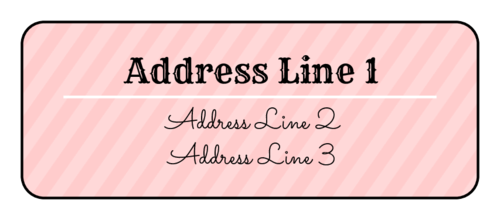 Striped Address Label