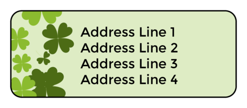 Shamrock Address Label