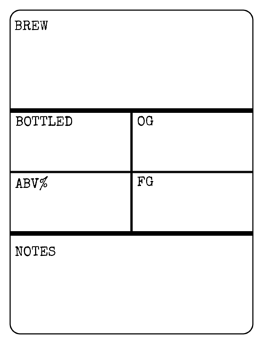 Write-In Beer Bottle Label