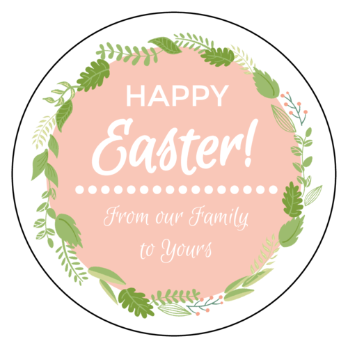 Florid Easter Circle Label