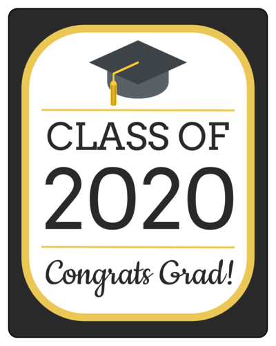 """Congrats Grad!"" Graduation Bottle Label"