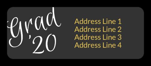 Graduation Class Address Label