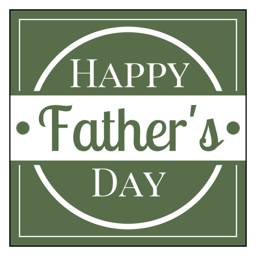 Happy Father's Day Label