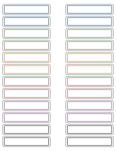 Write-In File Folder Label