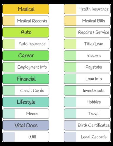 Ready-to-Print File Folder Organization Label