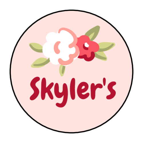 Floral Name Sticker